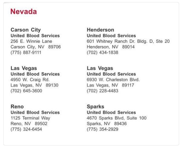 Las Vegas Blood Banks